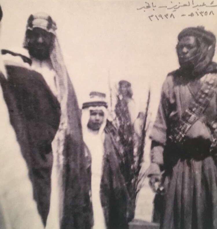 King Abdulaziz Of Saudi Arabia And His Son Prince Nawaf God Rest Their Souls الملك عبدالعزيز بن عبدالرحمن والأمير ن Saudi Arabia Historical Figures King