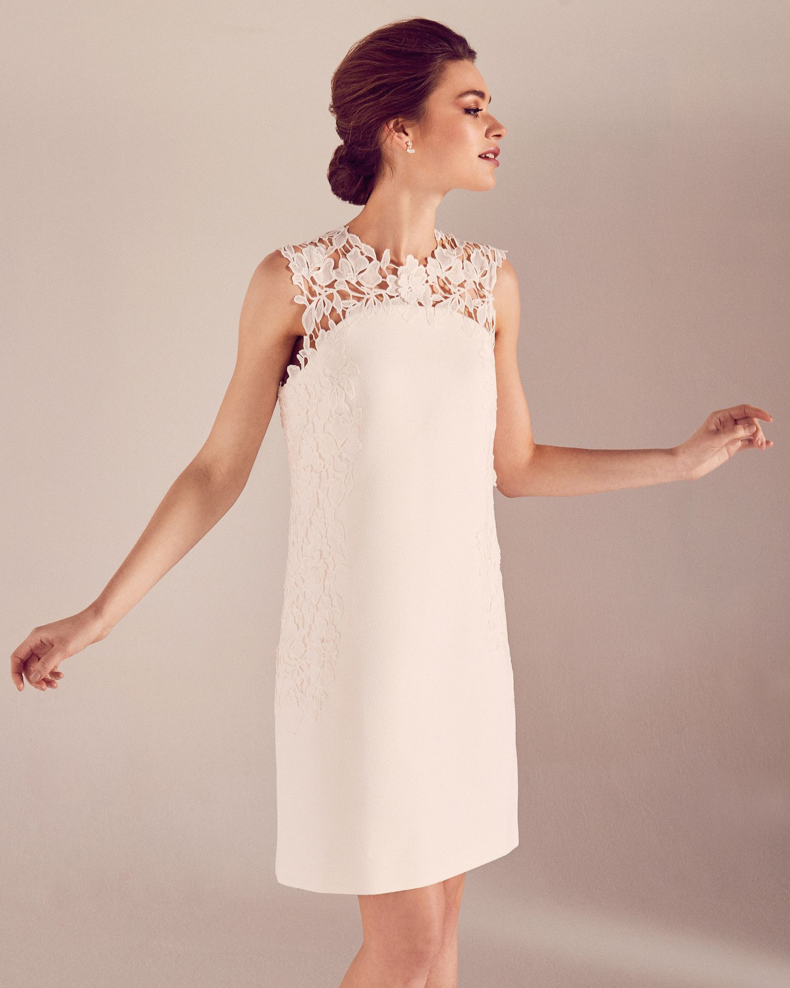 Embroidered lace shift dress - White | Dresses | Ted Baker $395