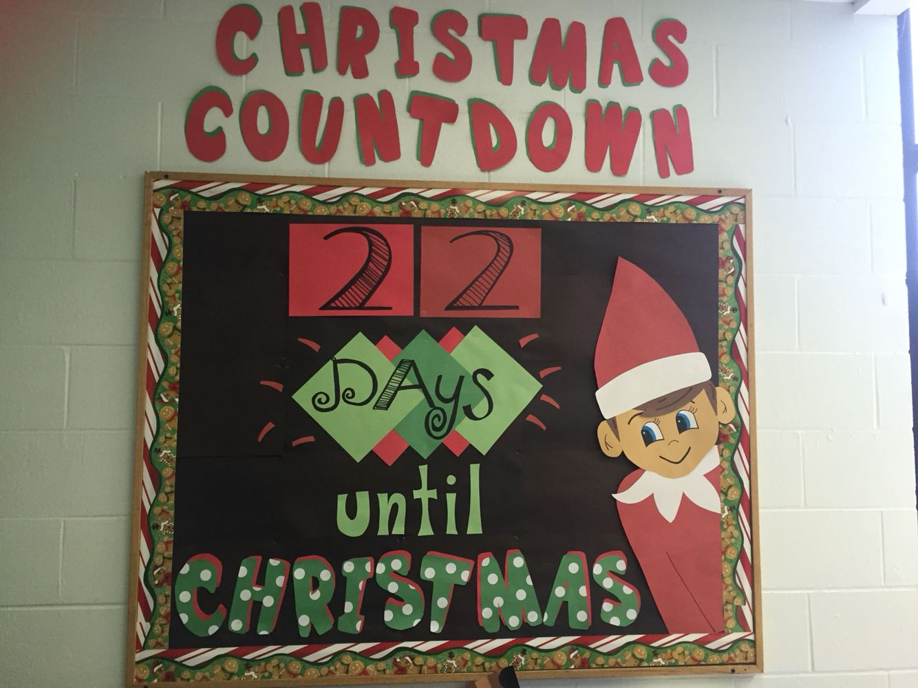 Christmas Classroom Decorations Printables ~ Chippy the elf on shelf christmas countdown bulletin