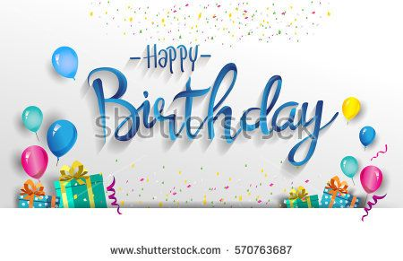 Happy Birthday typography vector design for greeting cards and - birthday cards format
