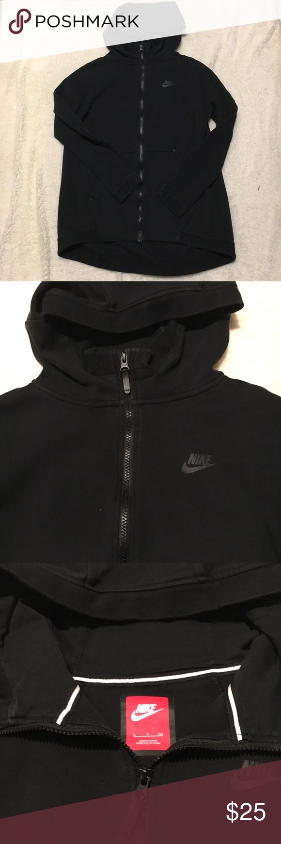 Nike Tech Fleece Long Hoodie Black hoodie. In good used
