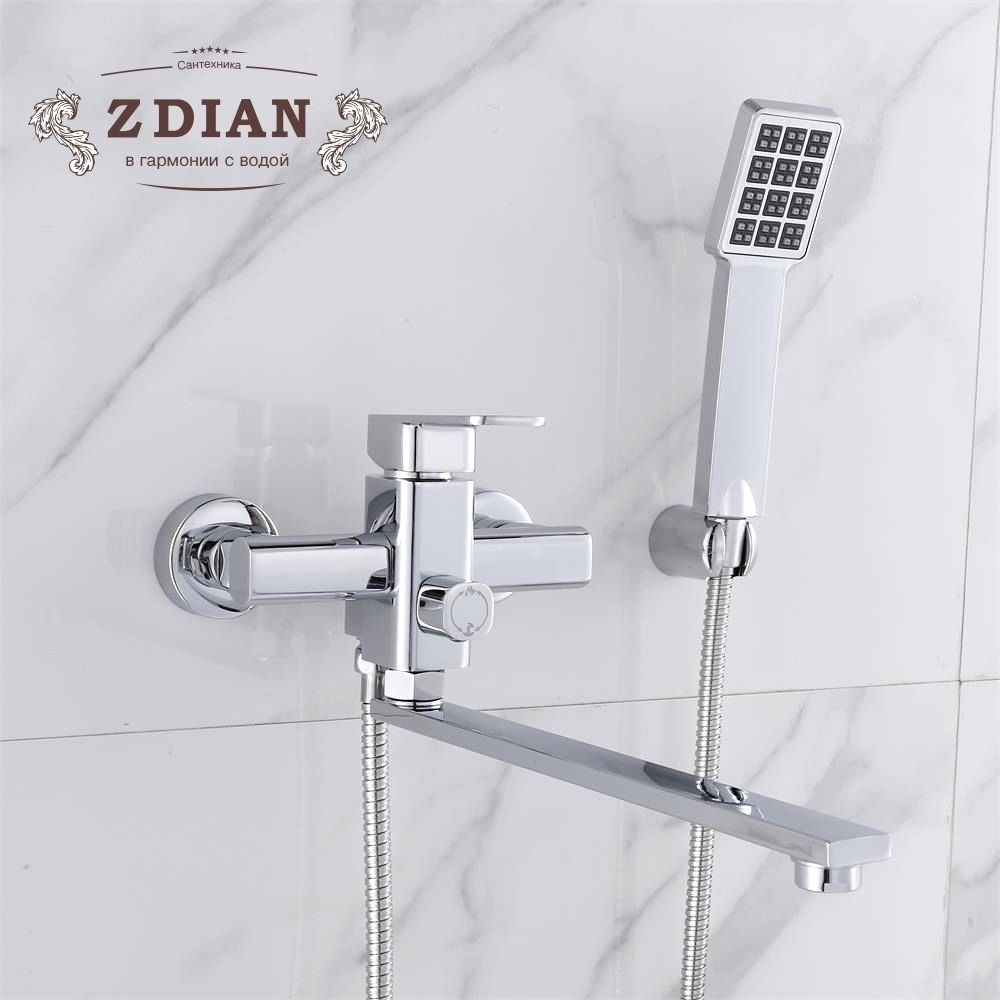 Shower Faucet With Handheld Showerhead Shower Bathtub Faucet Mixer