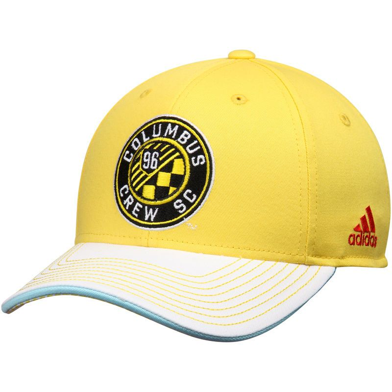 b147a6bc4069a Columbus Crew SC adidas Jersey Hook Structured Adjustable Hat - Yellow White