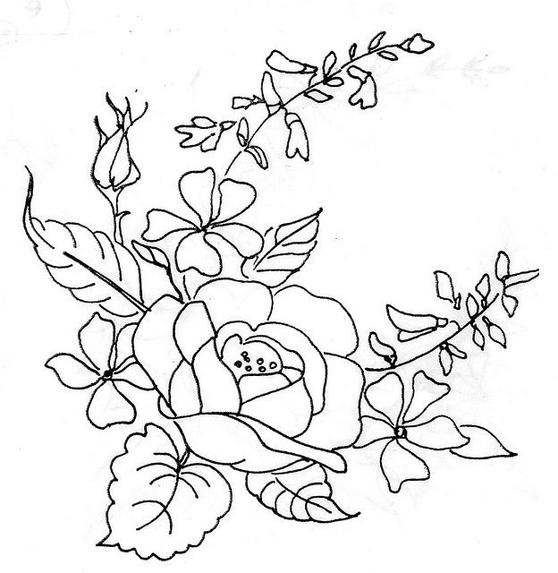 rose | Embroidery designs, Embroidery and Patterns