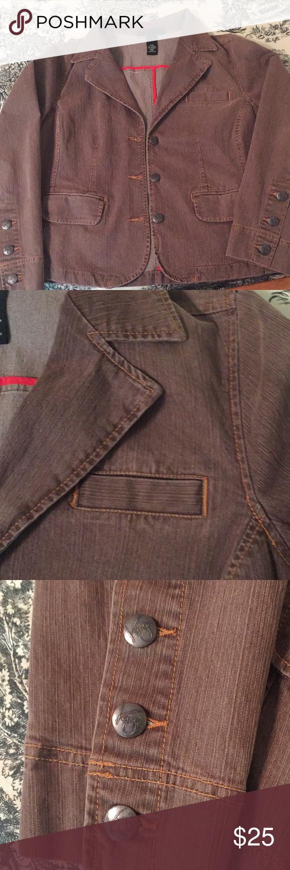 Venezia Stretchy Brown Jean Jacket Size 14 16 Brown Denim Jacket Brown Jean Jacket Brown Jeans [ 1740 x 580 Pixel ]