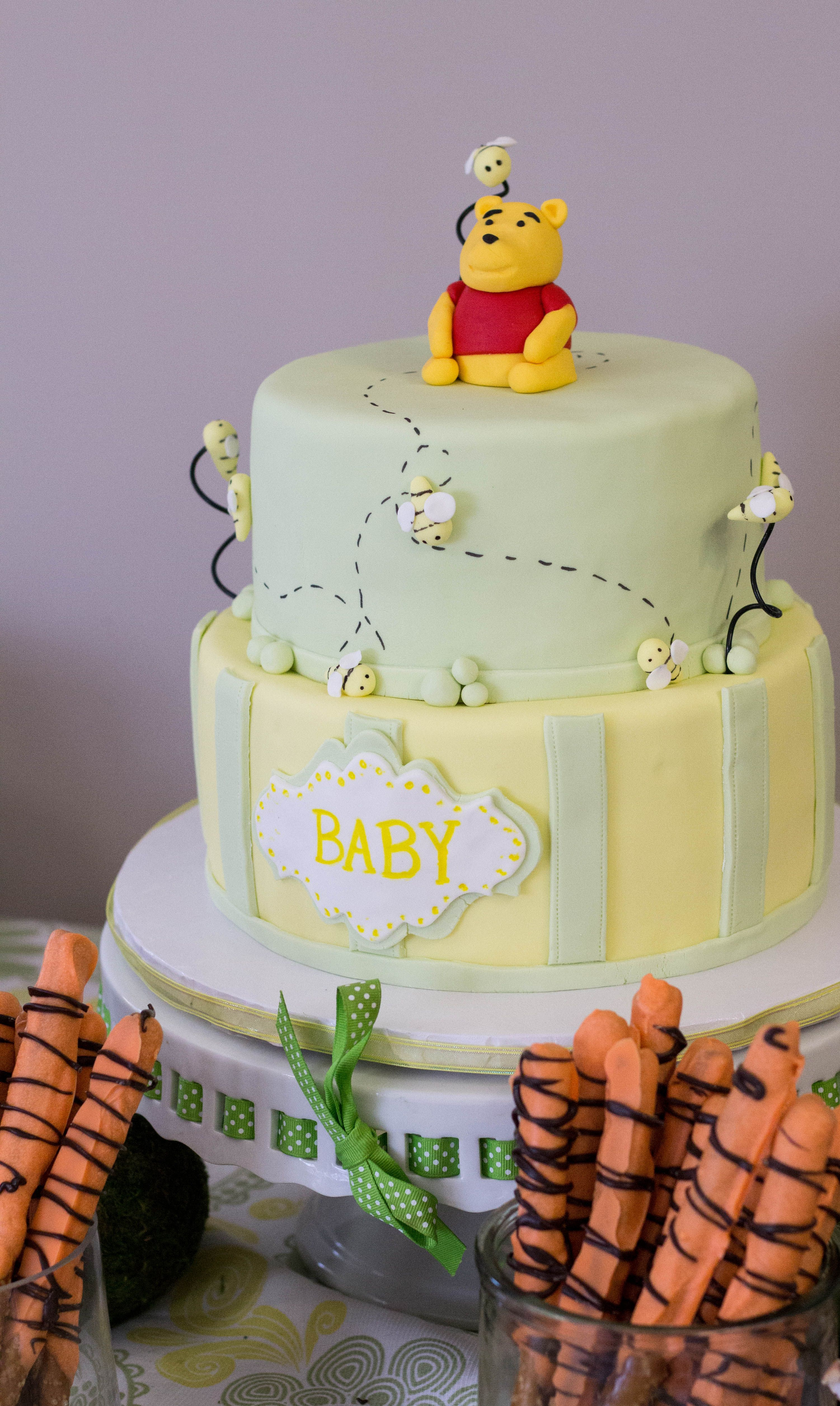 winnie the pooh baby shower cake topper