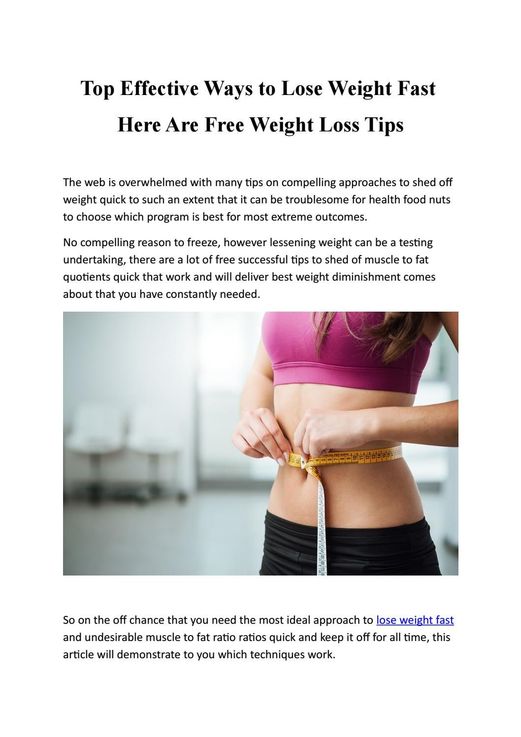 Most lose weight effective way to best