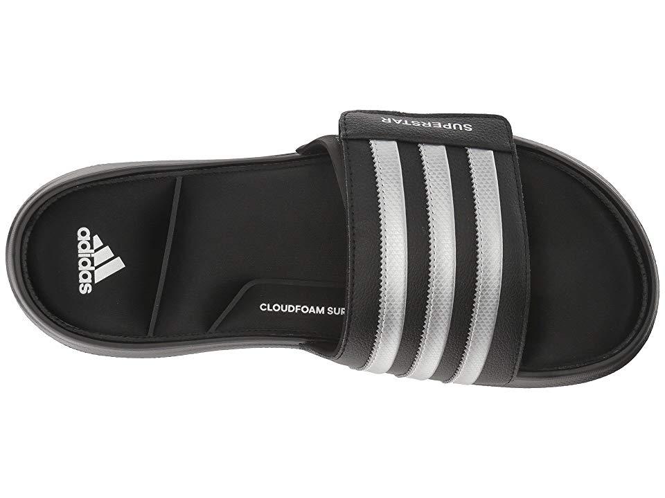 448228599 adidas Superstar 5G Slides Men s Slide Shoes Black Matte Silver Black
