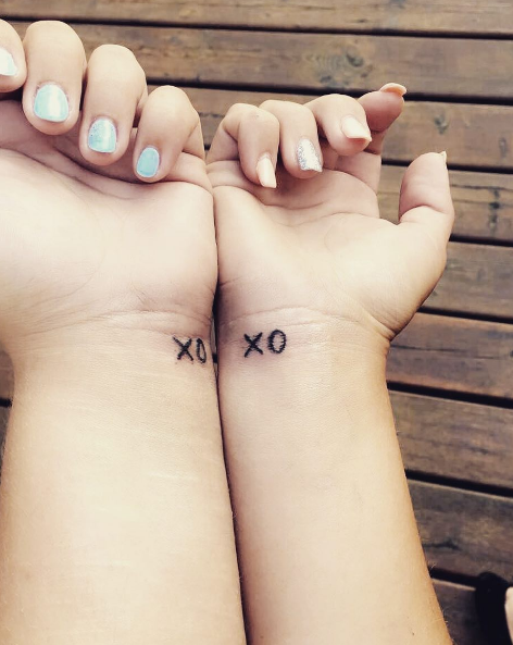 Xo Sister Tattoos Quotetattoos Matching Sister Tattoos Sister Tattoos Xo Tattoo