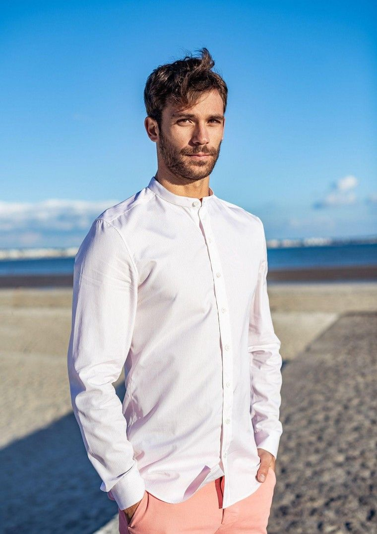 Comment Chemise Porter Homme Mao Col n0XOkP8w