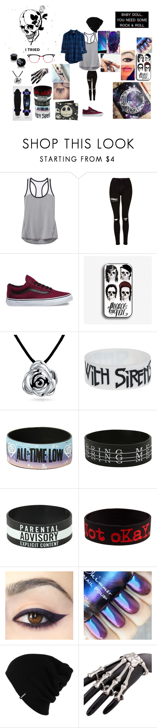 """""""BAnds"""" by frances-carneal on Polyvore featuring Kori, Athleta, Topshop, Vans, Bling Jewelry, Patagonia and Thom Browne"""