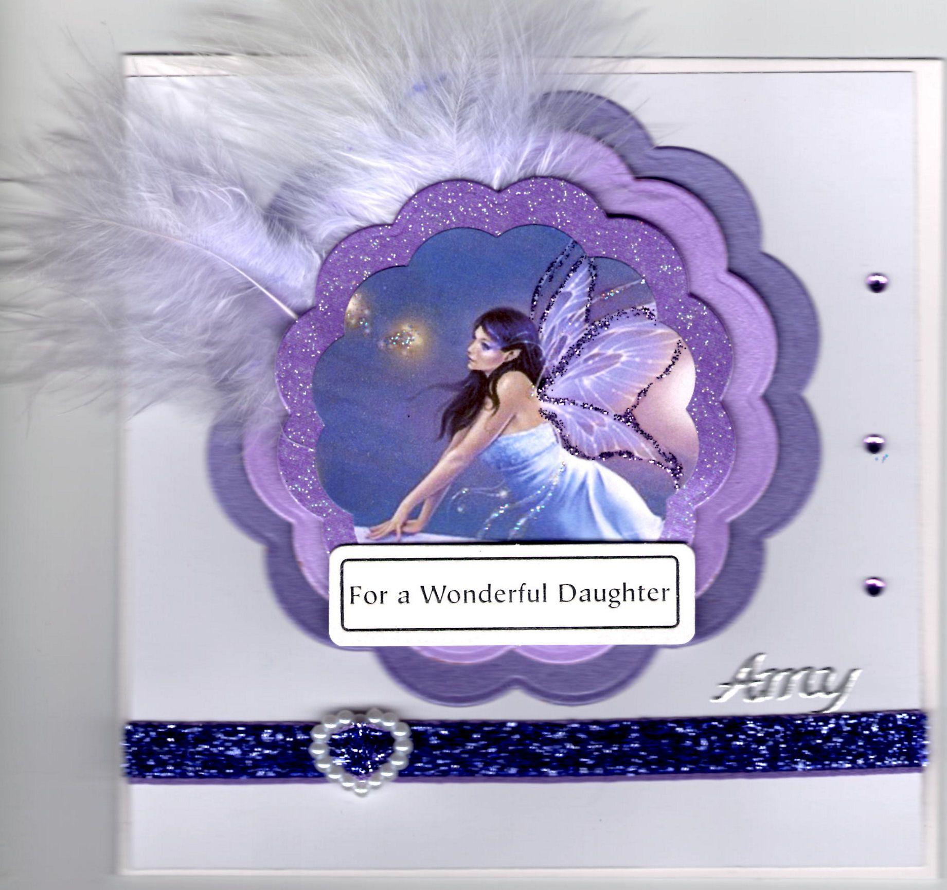 gorgeous fairy themed birthday card  cards handmade