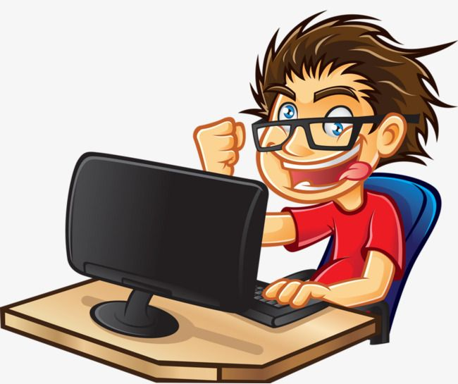 People Who Play Computer Computer Clipart People Clipart Students Play Computer Png And Vector With Transparent Background For Free Download Play Computer Games Clip Art Gaming Computer