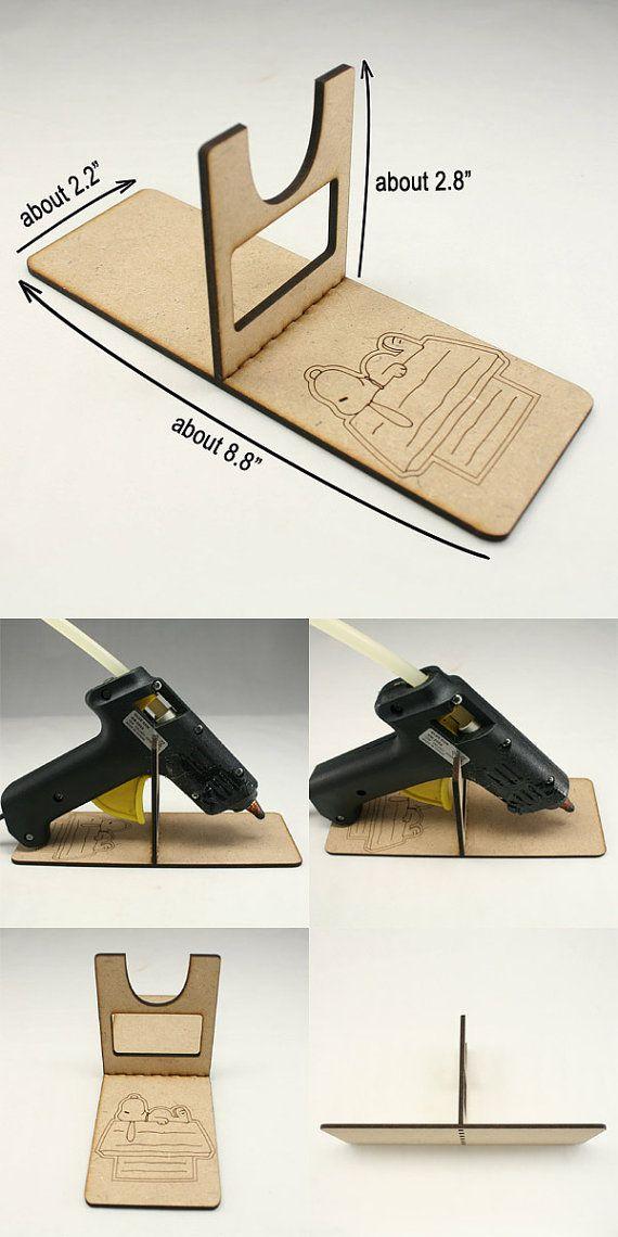 1 Piece Hot Glue Gun Holder, Glue Gun Stand, Wooden Glue Gun Holder ...