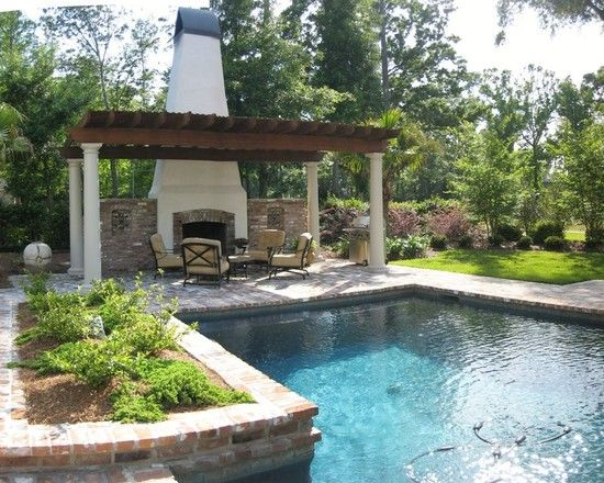 New orleans courtyard pool design pictures remodel for Pool design course