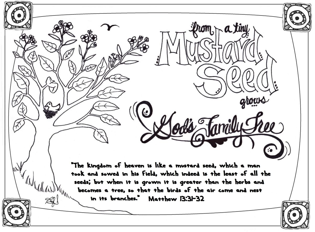 Parable Of The Mustard Seed Mustard Seed Parable Bible Coloring