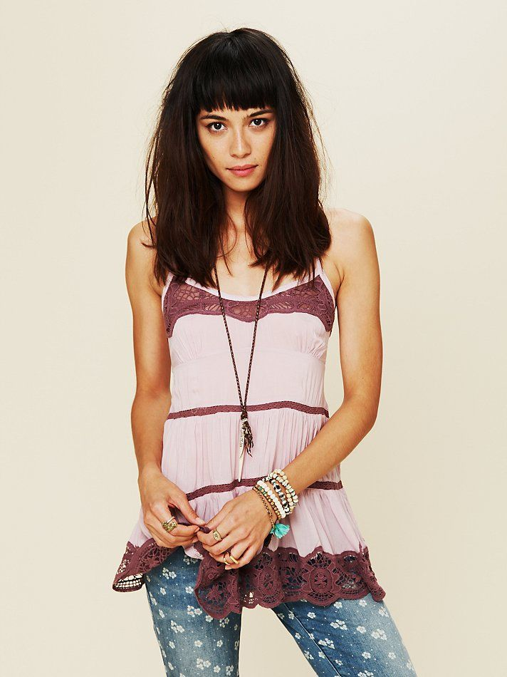 Intimately Free People Viscose Voile Tiered Babydoll Cami at Free People Clothing Boutique