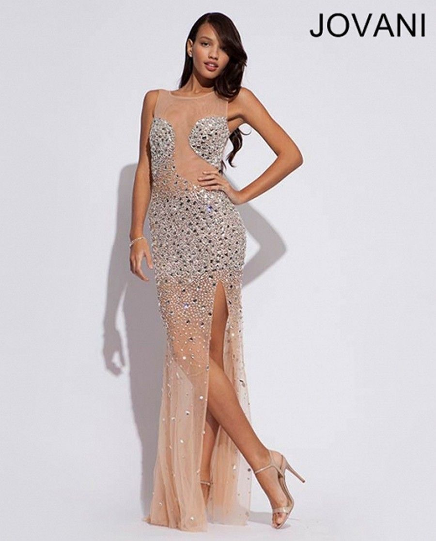 826f8ecd0c7d jovani-90734-prom-dress-illusion-back-sheer-scoop-neckline-front-slit -skirt-crystal-beaded-mesh