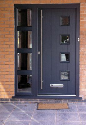 Italia Style With Side Panel Crystal Clear Bristol Thornbury Clevedon Weston Super Mare Modern Front Door Contemporary Front Doors Composite Front Door