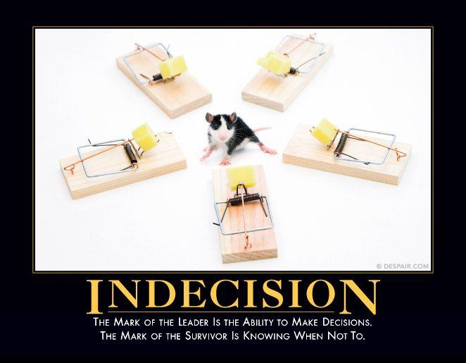 Indecision Demotivational Posters Tech Humor Retro Humor