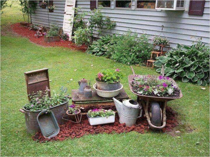 Vintage Yard Decorating Ideas 21 Decorewarding Rustic Garden Decor Garden Yard Ideas Vintage Garden Decor
