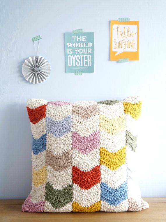 Chevron Kissen Muster Kissen PDF Crochet Muster 16 \