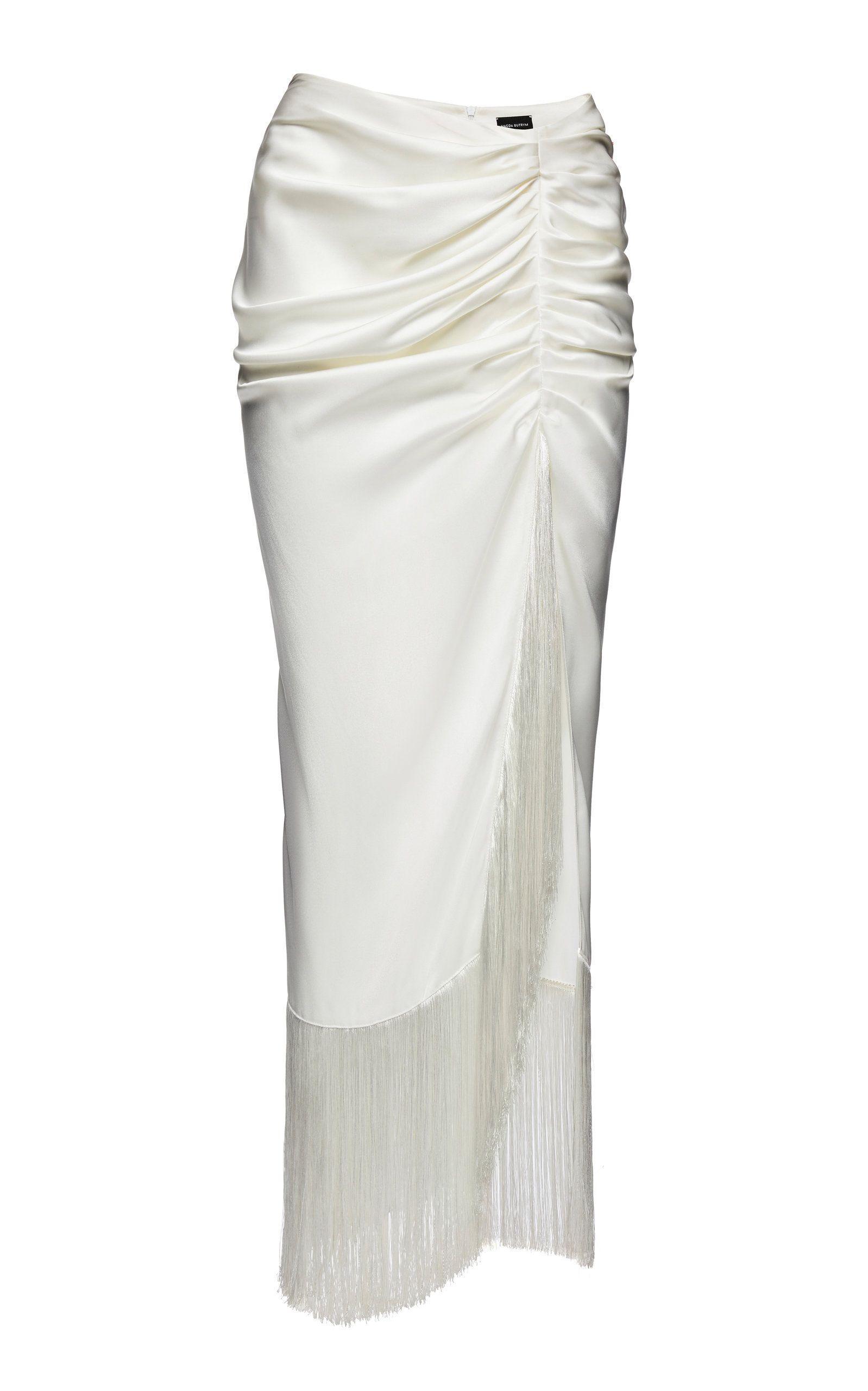 13de756a9395 Alba Ruched Silk Maxi Skirt in 2019 | Skirts & Dresses | Maxi skirt ...