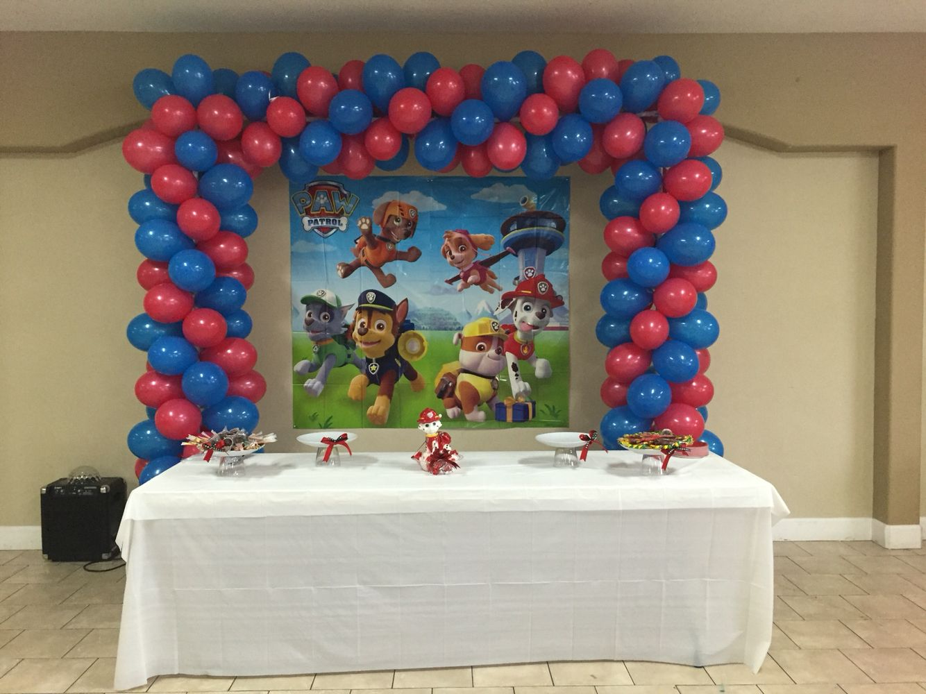 Paw patrol balloon decoration party pinterest