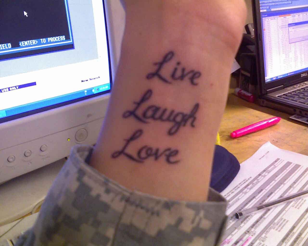 Live Laugh Love Tattoo for Wrist Love tattoos, Tattoos