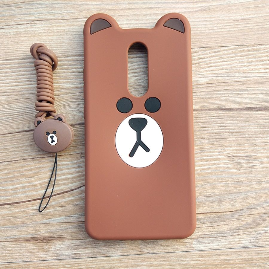 2020 的 Cute Cartoon 3D Bear Phone Case For Xiaomi Redmi
