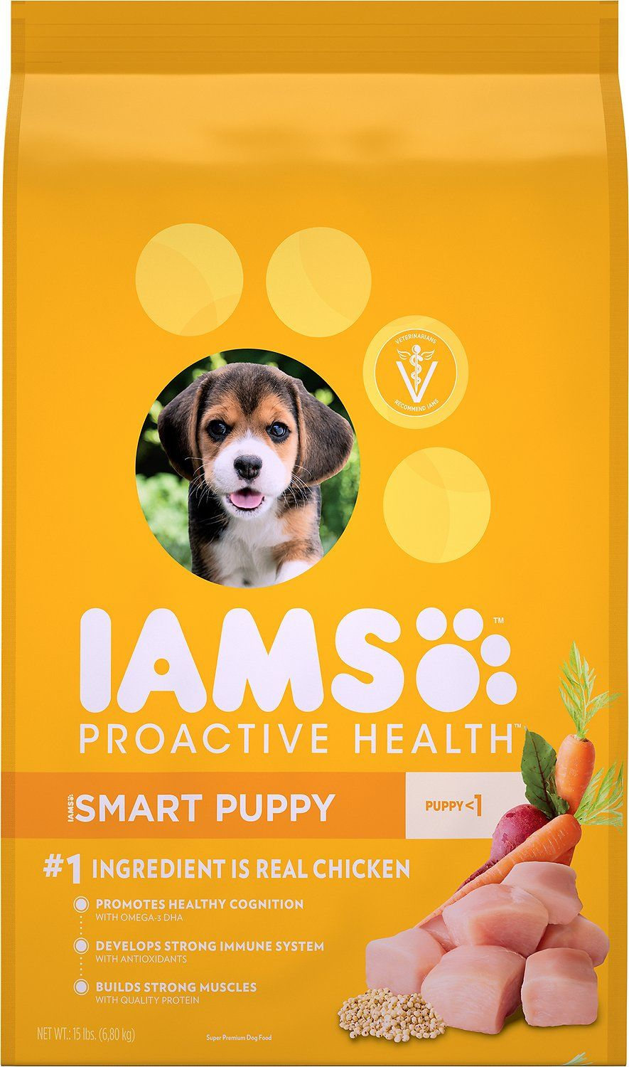 Iams Proactive Health Smart Puppy Original Dry Dog Food 15 Lb Bag