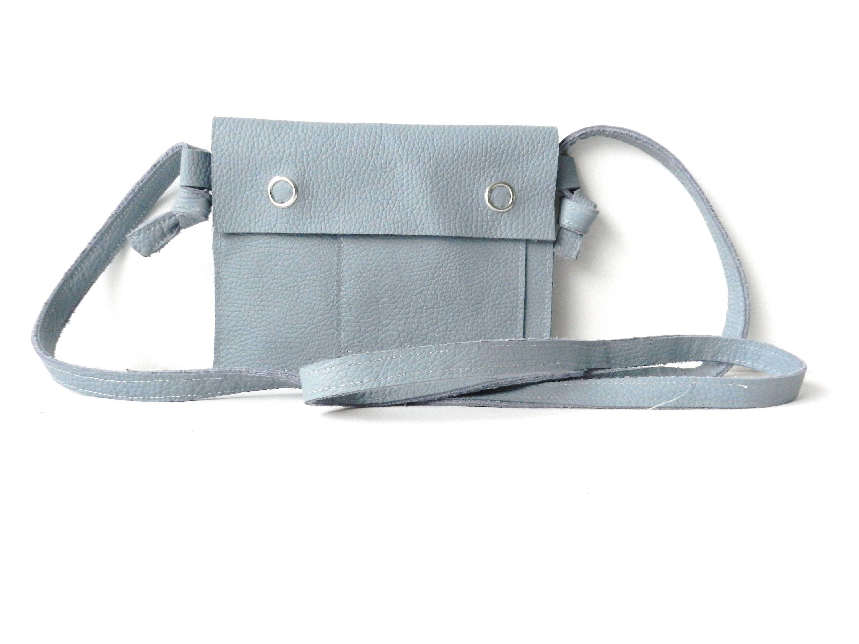 Spiksplinternieuw Small Leather Bag  Small Crossbody Bag Leather  Small Grey Leather WJ-49