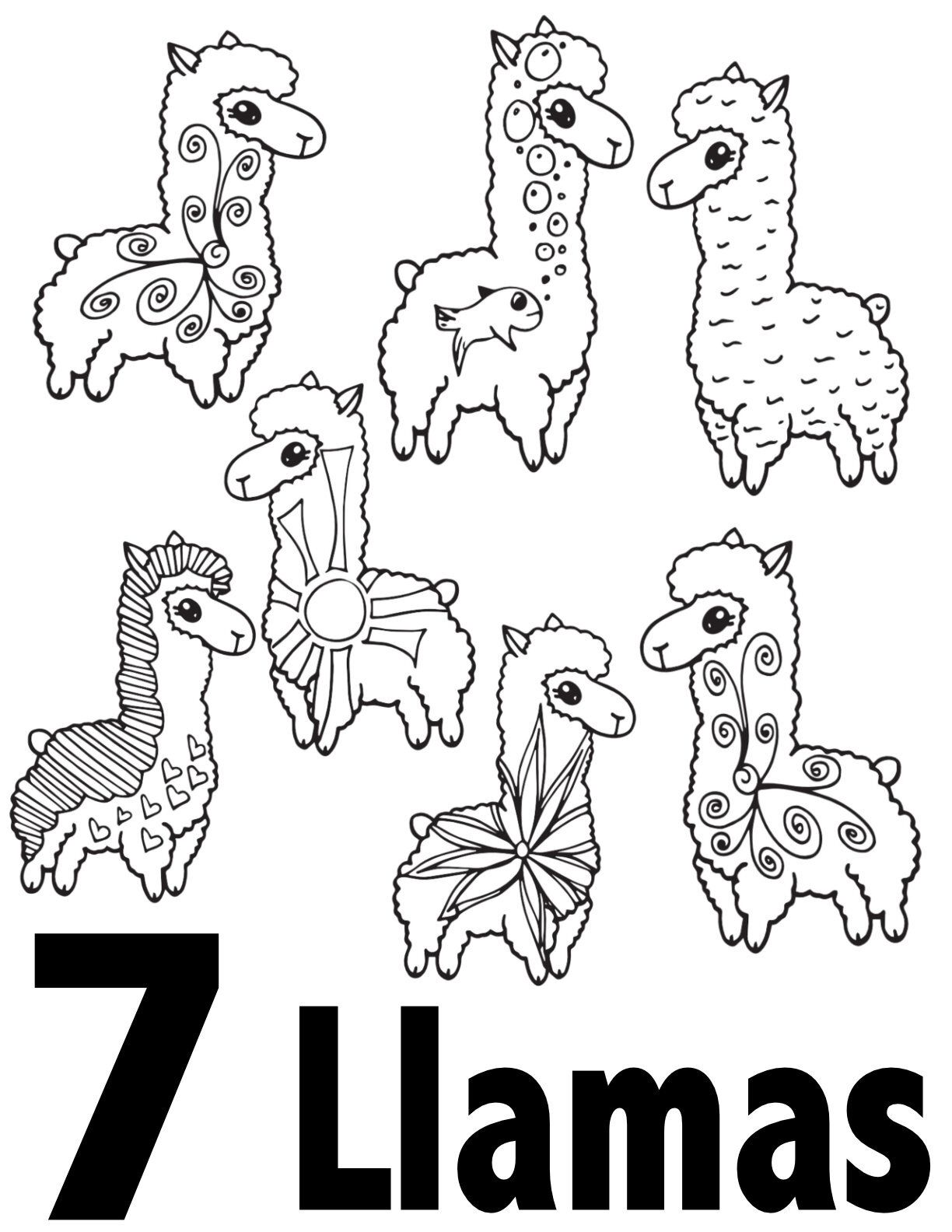 Llama Numbers 1 10 Free Printable Coloring Pages Preschool Kindergarten Kindergarten Coloring Pages Free Kids Coloring Pages Free Printable Coloring Pages