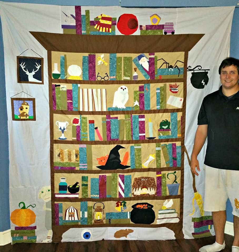 Project of Doom example   Quilts - Harry Potter/Bookcases   Pinterest
