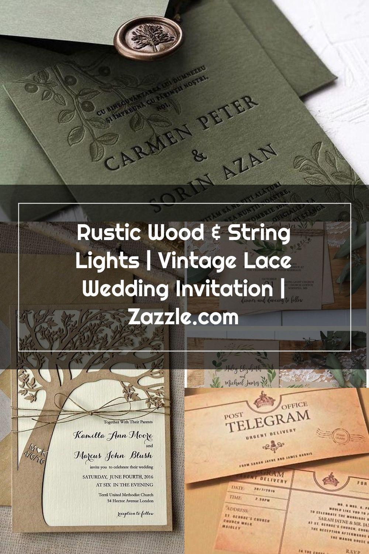 Wedding Card Vintage Lace Wedding Card Card For Wedding Wedding Invitations Rustic Vintage Invitations Lace Weddings