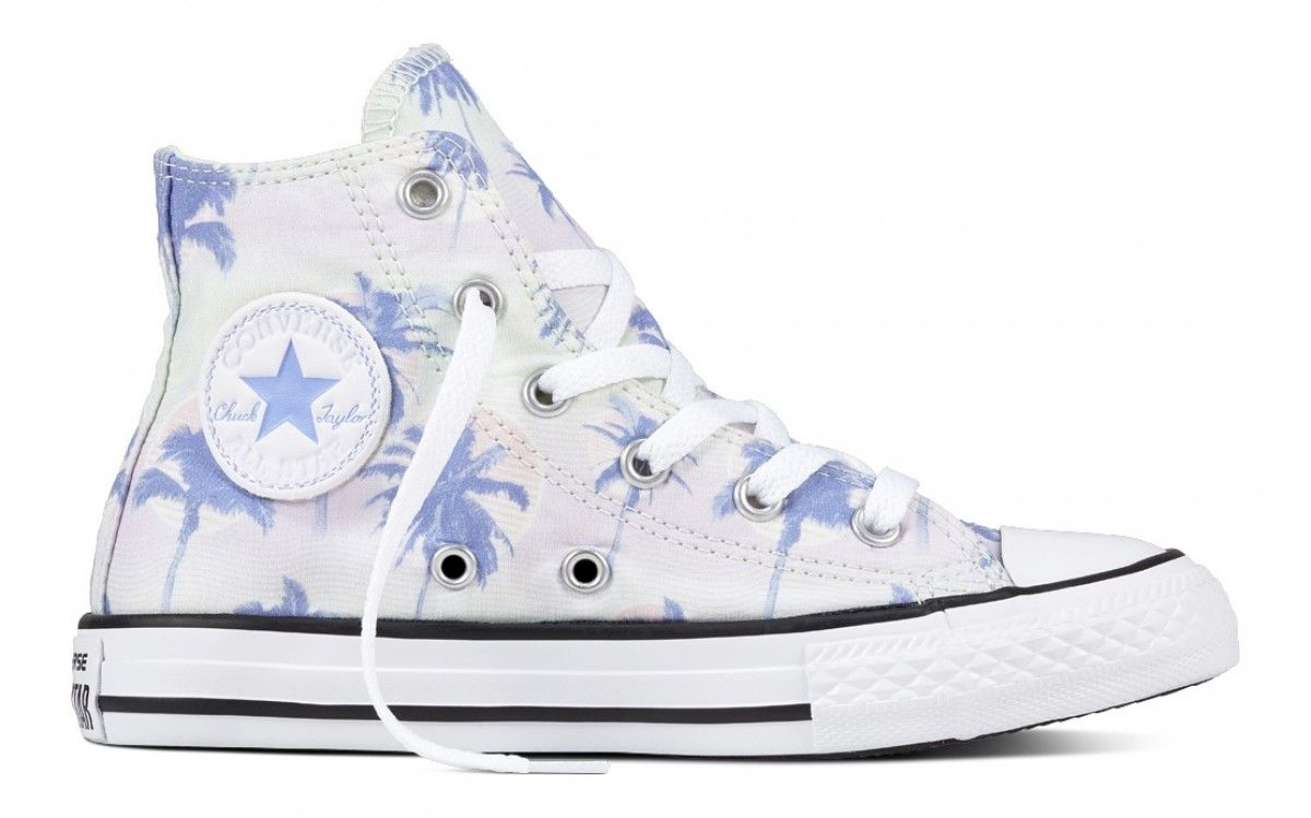 CONVERSE CHUCK TAYLOR ALL STAR KID'S HI TOP BARELY GREEN