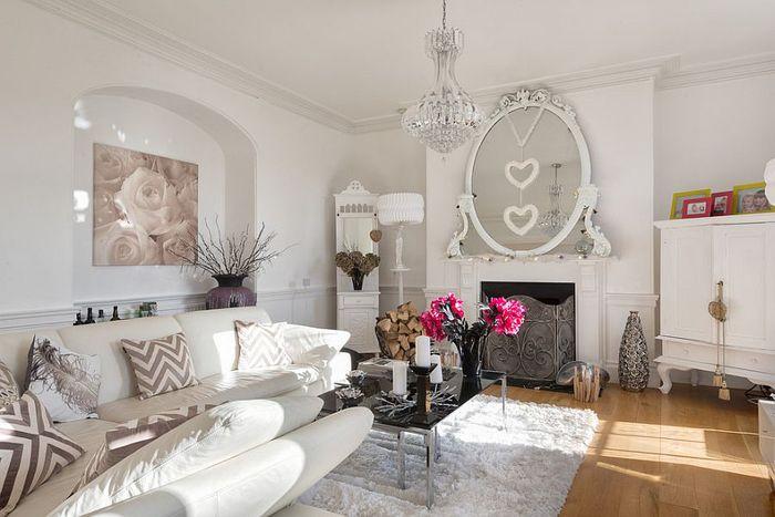 Shabby Chic Wohnzimmer In Pastellfarben Dekoelemente