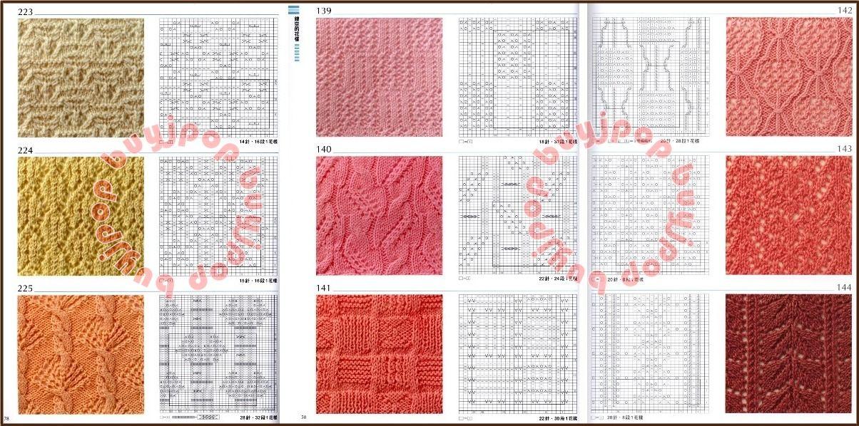 Reading Japanese Knitting Patterns | ... Chinese Japanese Knit Craft Pattern Book 300 Knitting Stitch Style