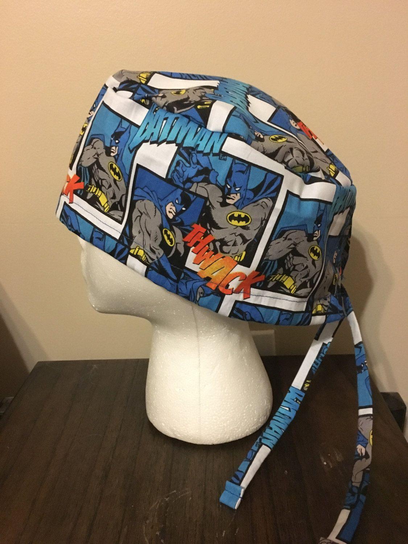 948dfa40adfb63 ... italy batman comic book style scrub cap surgery cap scrub caps scrub hat  by quiltsbyhayley on