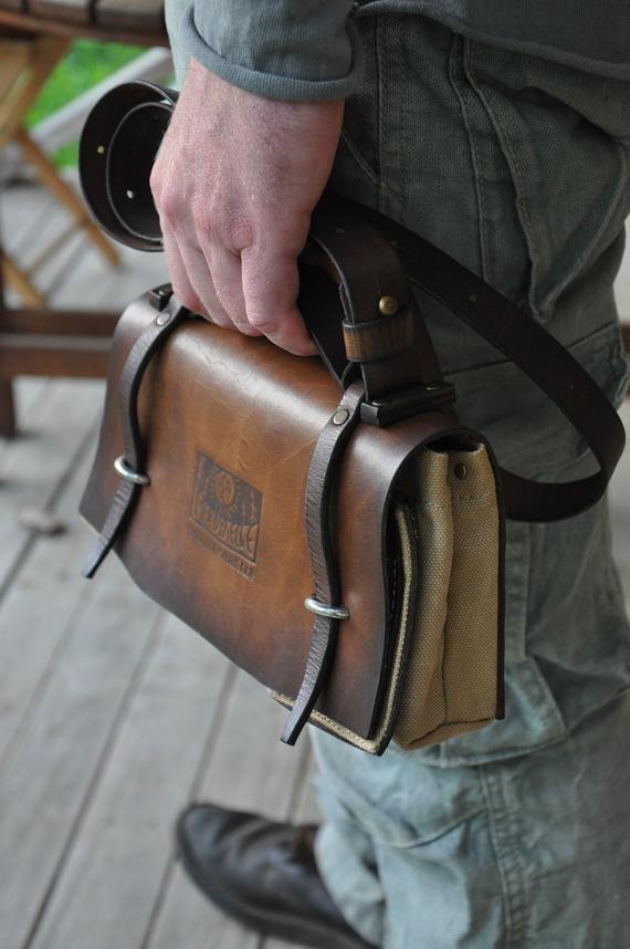 7462bcb6b4 Leather Canvas Bag