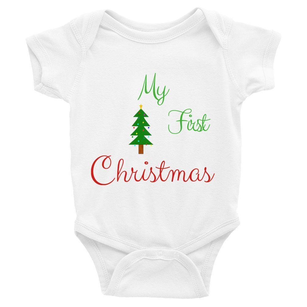 Firts Xmas Infant Baby Romper | Kids Clothes | Pinterest | Xmas