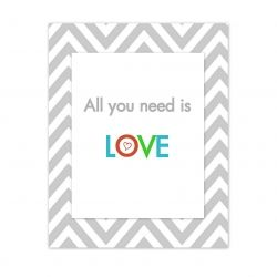 Print this poster and use it as home decor or a Valentine's card. Free printable.