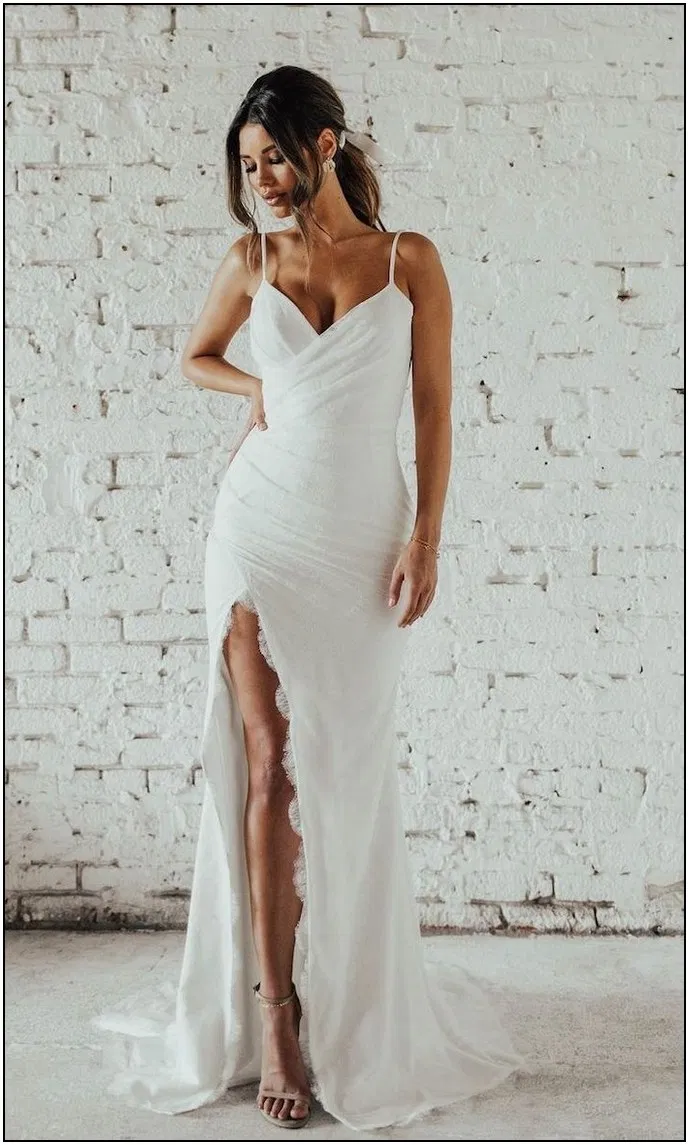 167 awesome simple wedding dresses for cute brides page 46