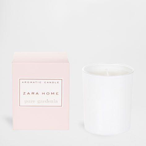 Pure Gardenia Aromatic Candle Pure Gardenia Fragrance Zara