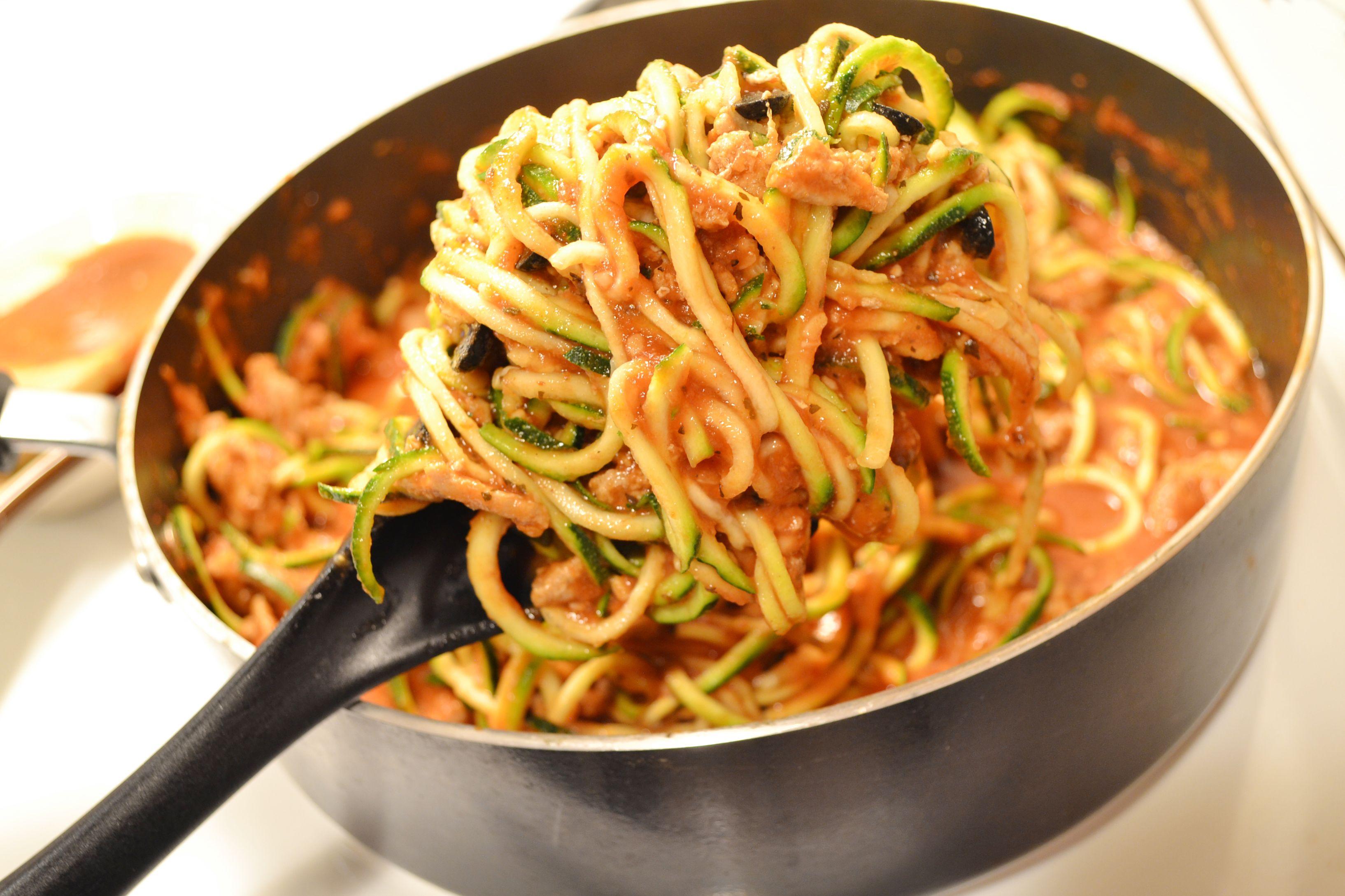 Zoodles in Meat Sauce | Recipe | Food recipes, Meat sauce ...