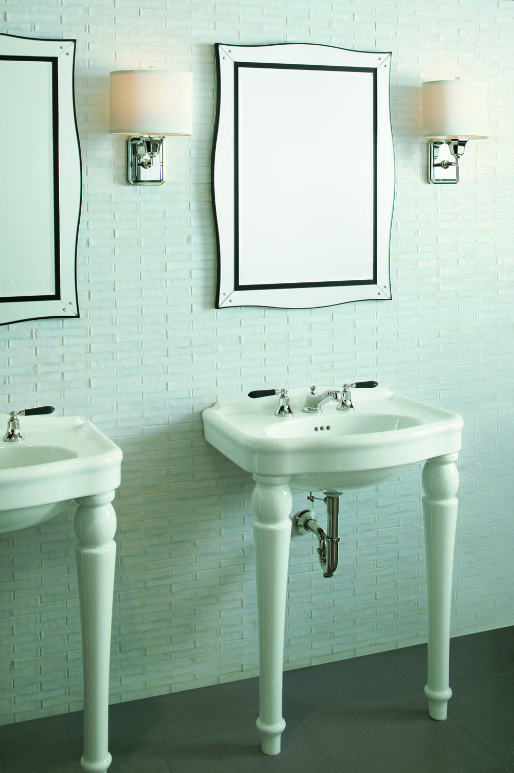 A modern bathroom with a classic touch. Glamour by Barbara Barry ...
