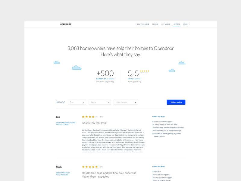 Customer Reviews Page Customer Review Reviews Web Design