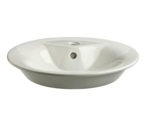 "Bathroom Sinks At Menards $109 18"" semi-recessed porcelain vessel sink at menards 