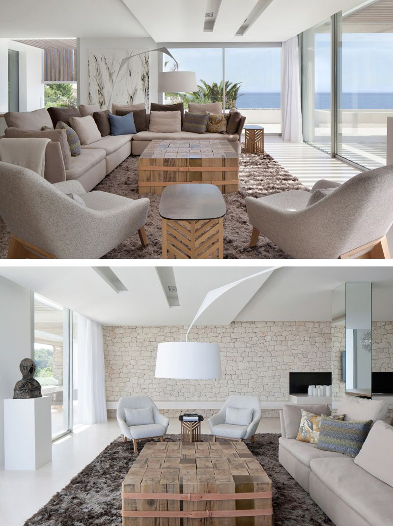 A Soft Natural Palette Fills This Ocean View Home In Ibiza Home Modern House Design Furniture Choice View home decor for living room table