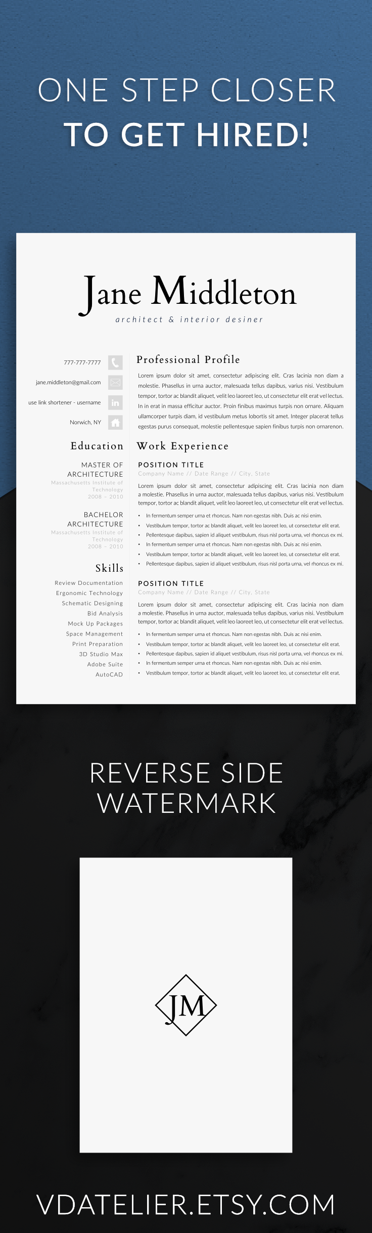 Resume Template For Modern Professionals Present Your Skills